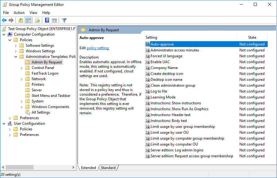 Group Polices for Windows